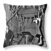 Cora Camoin Walks On Ceiling Throw Pillow