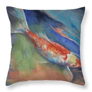 Coral And Moonstone Throw Pillow by Michael Creese