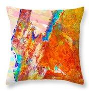 Coral Bay And Ningaloo Throw Pillow