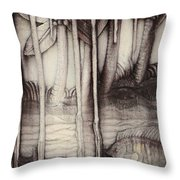 Coral Carving. Maldives Throw Pillow by Jenny Rainbow