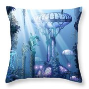 Coral City   Throw Pillow
