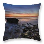 Coral Cove Beach At Dawn Throw Pillow