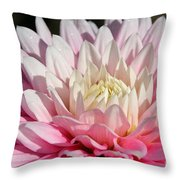 Coral Dahlia Throw Pillow