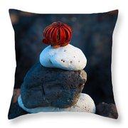 Coral Dandy Throw Pillow