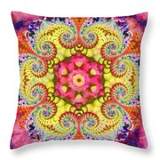 Coral Ecstacy Throw Pillow