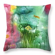 Coral Fishies Throw Pillow