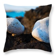 Coral Friends Throw Pillow