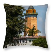 Coral Gables House And Water Tower Throw Pillow
