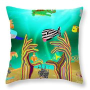Coral Hands Throw Pillow