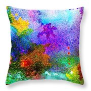 Coral Reef Impression 6 Throw Pillow