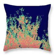 Coral Reef Abstract Throw Pillow