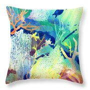 Coral Reef Dreams 2 Throw Pillow