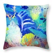 Coral Reef Dreams 3 Throw Pillow