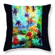 Coral Reef Impression 13 Throw Pillow