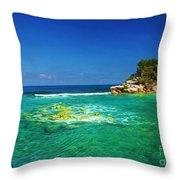 Coral Seas Haiti Throw Pillow