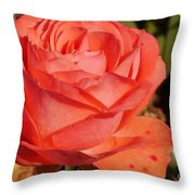 Coral Surprise Throw Pillow
