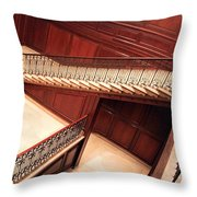 Corcoran Gallery Staircase Throw Pillow