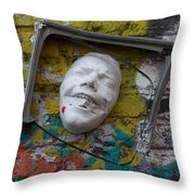 Cordal Semiframed Face  Throw Pillow