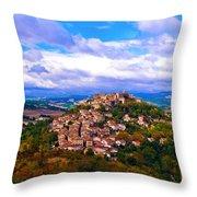 Cordes-sur-ciel France Throw Pillow