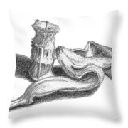 Core And Skin Sketch Throw Pillow