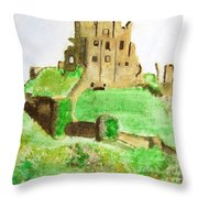 Corfe Castle Throw Pillow
