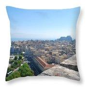 Corfu City Throw Pillow