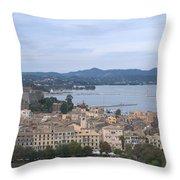 Corfu.new Port Throw Pillow