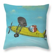 Corgi Aviator Throw Pillow