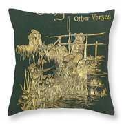Coridons Song And Other Verses Throw Pillow