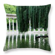 Corinthian Colonnade And Pond Throw Pillow