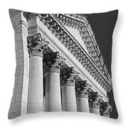 Corinthian Columns Bw Throw Pillow