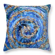 Coriolis 4 Throw Pillow by Regina Valluzzi