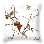 Corkscrew Throw Pillow by Anne Gilbert