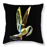 Cormorant Ornament Throw Pillow by Jean Noren