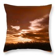 Corn Field Silhouettes Textured Throw Pillow