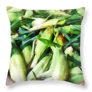 Corn For Sale Throw Pillow