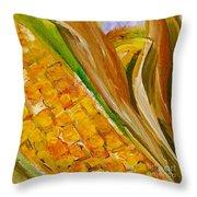 Corn In The Husk Throw Pillow
