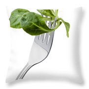 Corn Salad On A Fork Throw Pillow