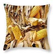 Corn Shock - Sign Of Autumn Throw Pillow