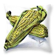 Corn Study Throw Pillow
