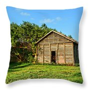 Corncrib In Afternoon Light Throw Pillow