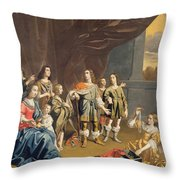 Cornelia And Her Jewels Oil On Canvas Throw Pillow