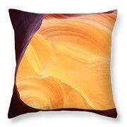 Corner Flame-sq Throw Pillow