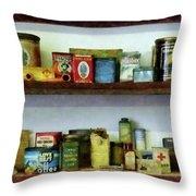 Corner Grocery Store Throw Pillow