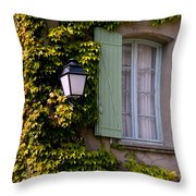Corner House Throw Pillow
