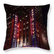 Corner Of Radio City Music Hall Throw Pillow