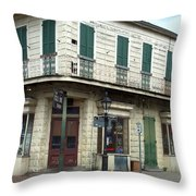 Corner Of St. Peter And Dauphine Throw Pillow