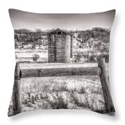 Corner Posts And Silo Throw Pillow