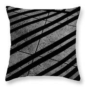 Corner Railing Throw Pillow