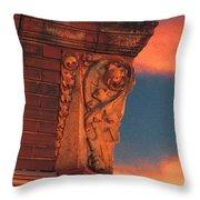 Corner Sunset Throw Pillow